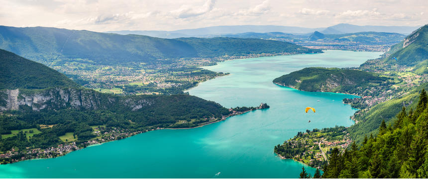 Mont Blanc, Lake Geneva and Annecy
