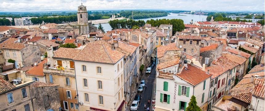 Arles from above