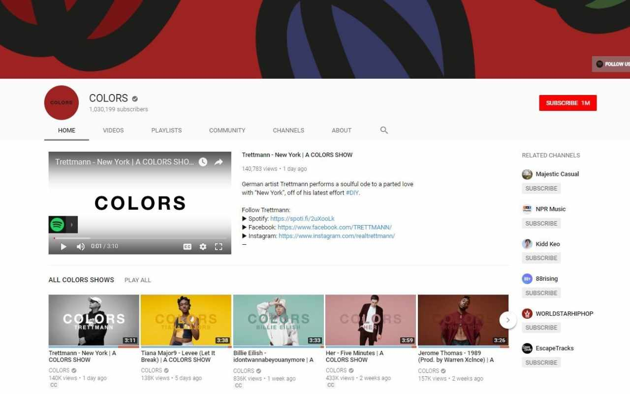 Colors YouTube Channel