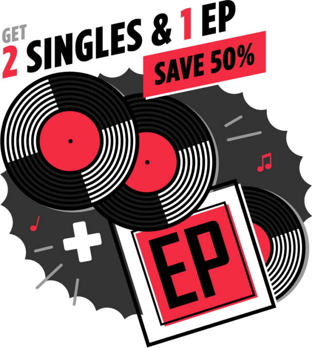 Visual for EP Builder Bundle with vinyl records
