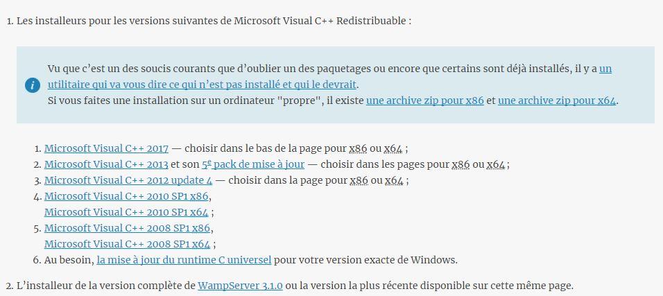 Wamp et erreur 0xc000007b par Chausette - OpenClassrooms
