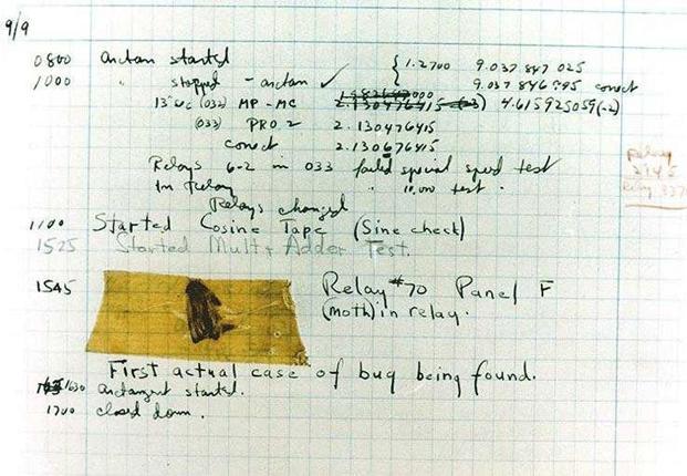 Grace Hopper's first bug report