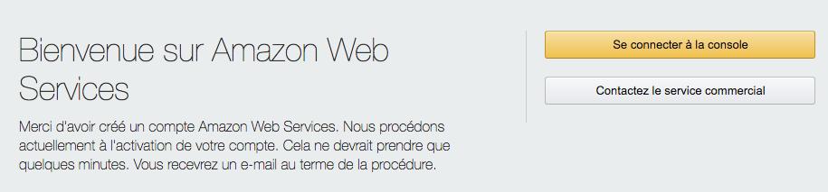 Votre compte AWS est créé ! 👏