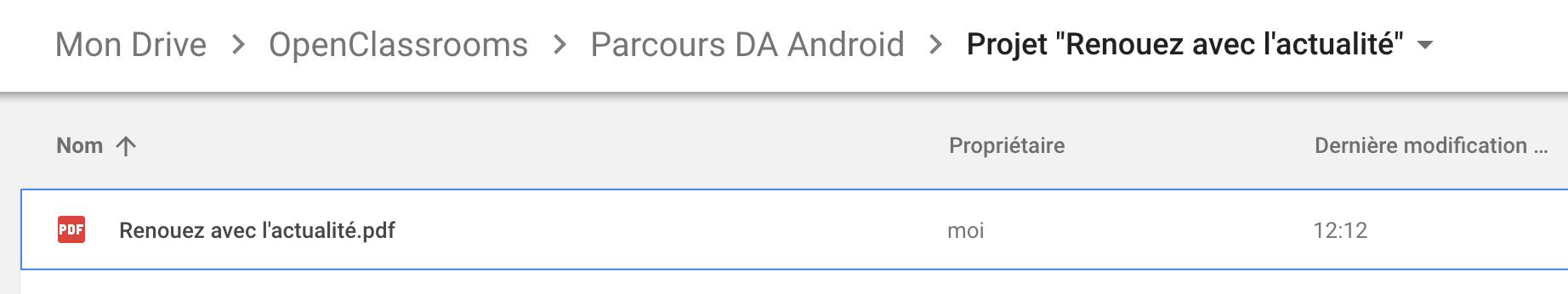 Stockez vos livrables dans un dossier Google Drive