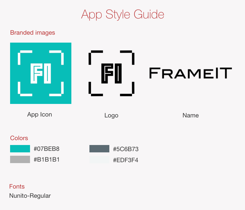 App style guide example