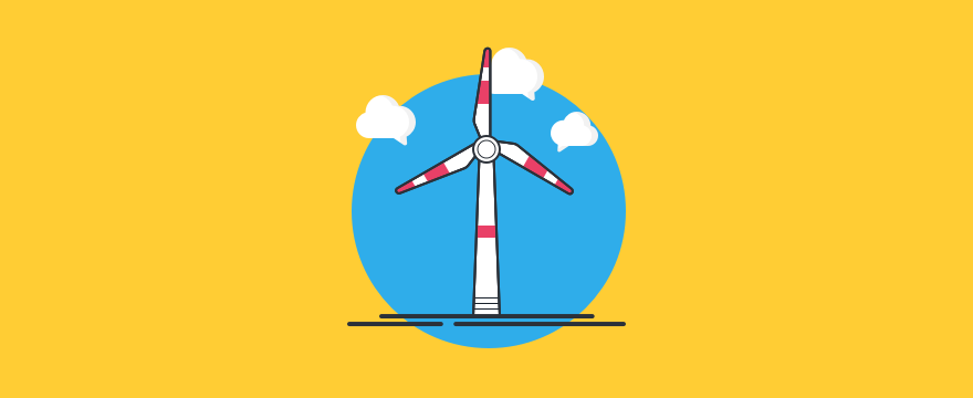 a wind mill – header image for blog post on live chat in the energy industry