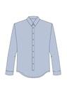 """Комплект """"Голубой"""" (сорочечная) для рубашки Кевин"""