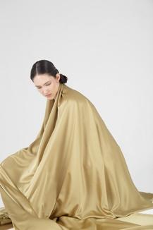 Искусственный шёлк,  горчичное золото