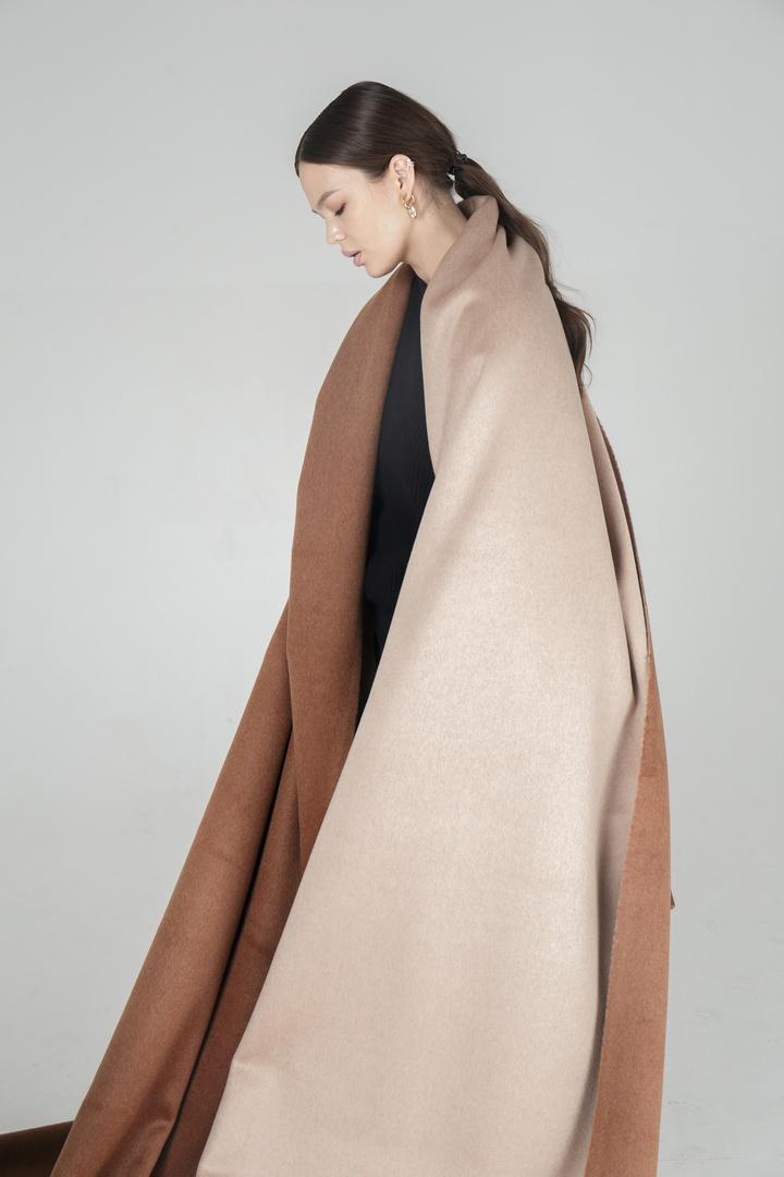 Пальтовая, (двухслойная) коричневый