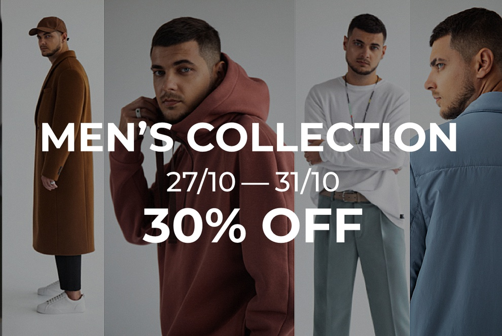 -30% men's collection