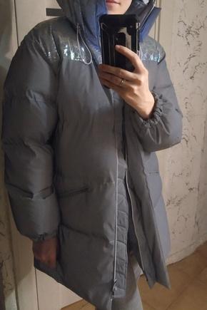 Теплая и стильная оверсайз куртка