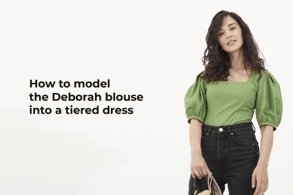 How to model the Deborah blouse into a tiered dress