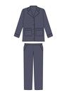 "Комплект ""Тёмно-синий"" (шёлк) для пижамы Белла"