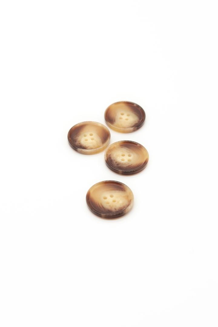 Пуговицы, коричневые с роговым эффектом