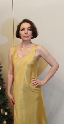 Прекрасная выкройка платья по косой