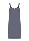 """Комплект """"Тёмно-синий"""" (шёлк) для платья Лея"""