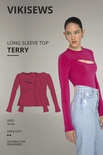 Terry long sleeve top