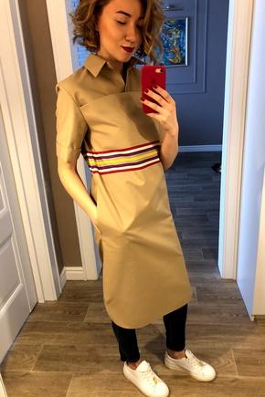 Платье-плащ из ткани Burberry