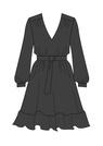 """Комплект """"Чёрный"""" (купро) для платья Трейси"""