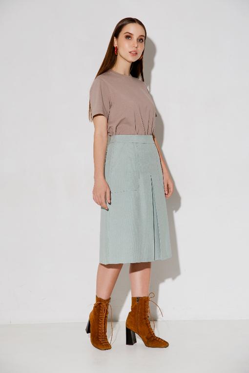 МК по пошиву юбки с встречной складкой Элания