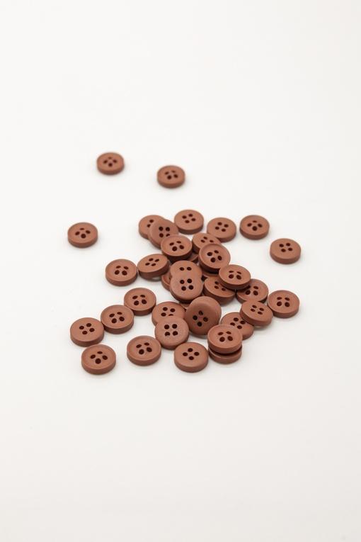 Пуговицы, красно-коричневые (d 1см)