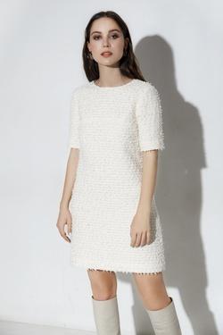 Платье А-образного силуэта из твида Сейлор