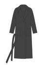 """Комплект """"Черный"""" для пальто Триш"""