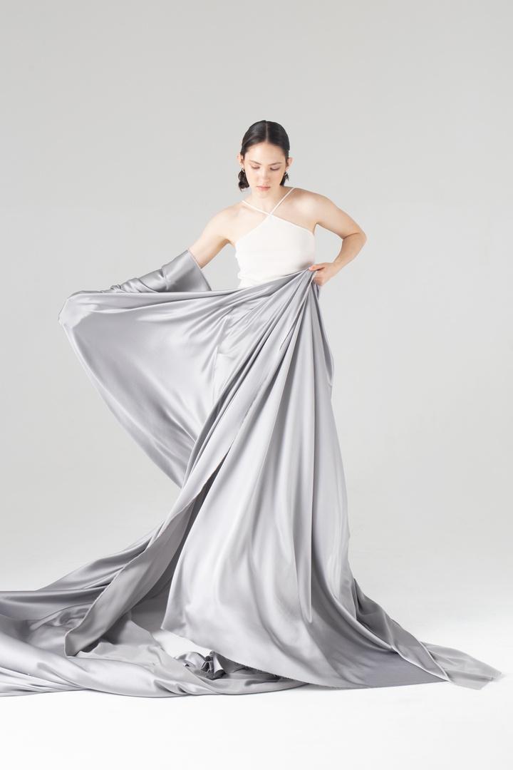 Искусственный шёлк, серебро