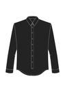"""Комплект """"Чёрный"""" (сорочечная) для рубашки Кевин"""