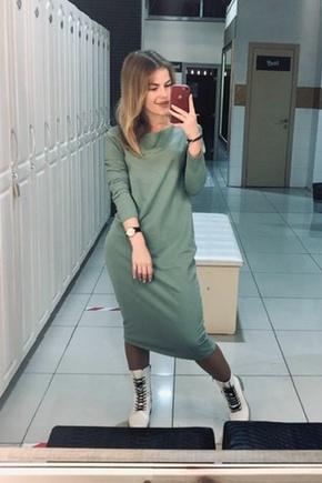 Любимое трикотажное платье!