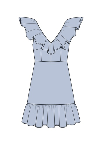 """Комплект """"Голубой (сорочечная)"""""""
