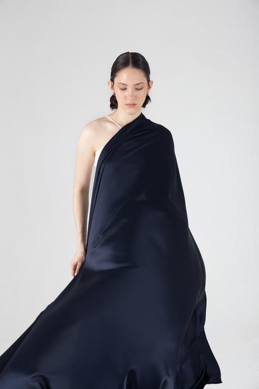 Искусственный шёлк, тёмно-синий