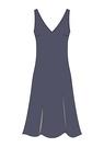 """Комплект """"Тёмно-синий"""" (шёлк) для платья Голди"""