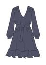 """Комплект """"Тёмно - синий"""" (шёлк) для платья Трейси"""