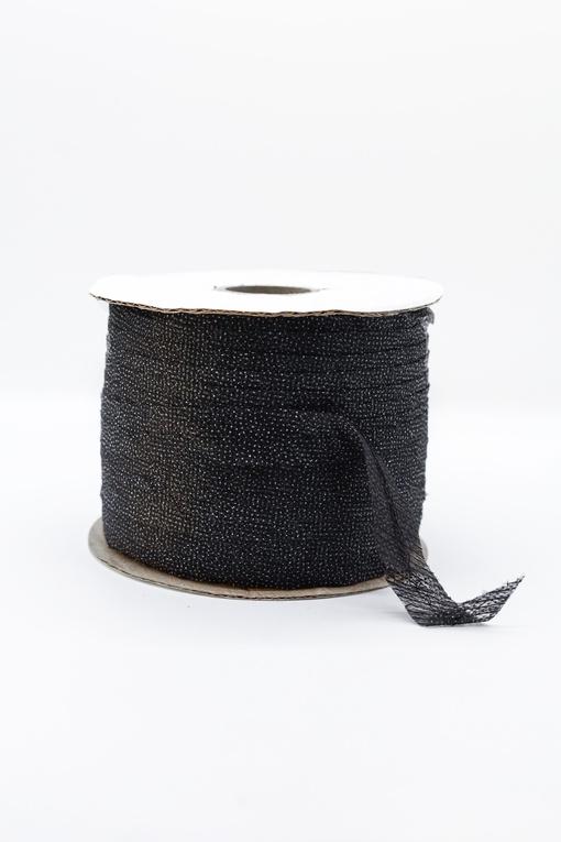 Лента клеевая нитепрошивная по косой, усиленная строчкой (черный)