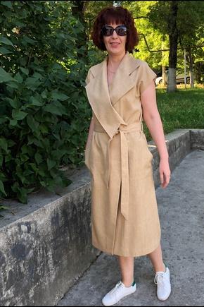 комфортное летнее платье-халат