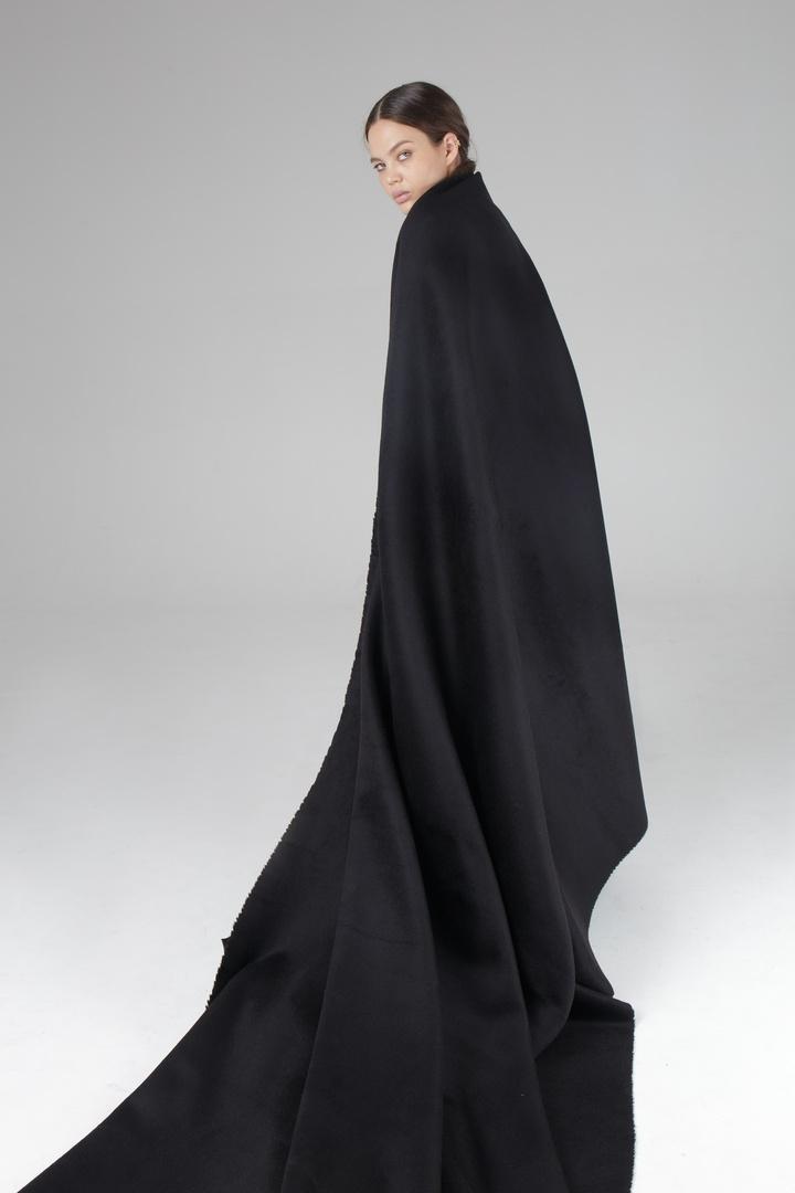Пальтовая, (двухслойная) черный