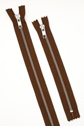 Молния металлическая, коричневая 35 см