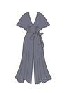 """Комплект """"Тёмно-синий"""" (шёлк) для платья Алисия"""