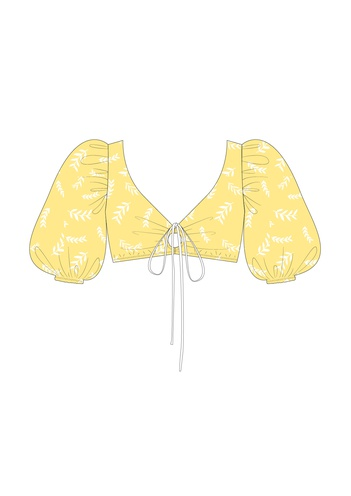"Комплект ""Веточки на жёлтом"" (вискоза)"