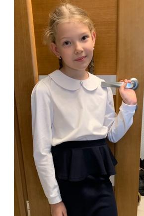 Школьная блузка из кулирки