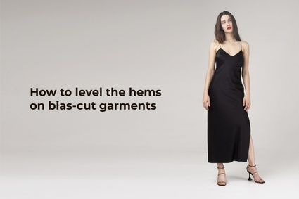 How to level the hems on bias-cut garments