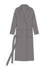 """Комплект """"Серый хаки"""" для пальто Триш"""