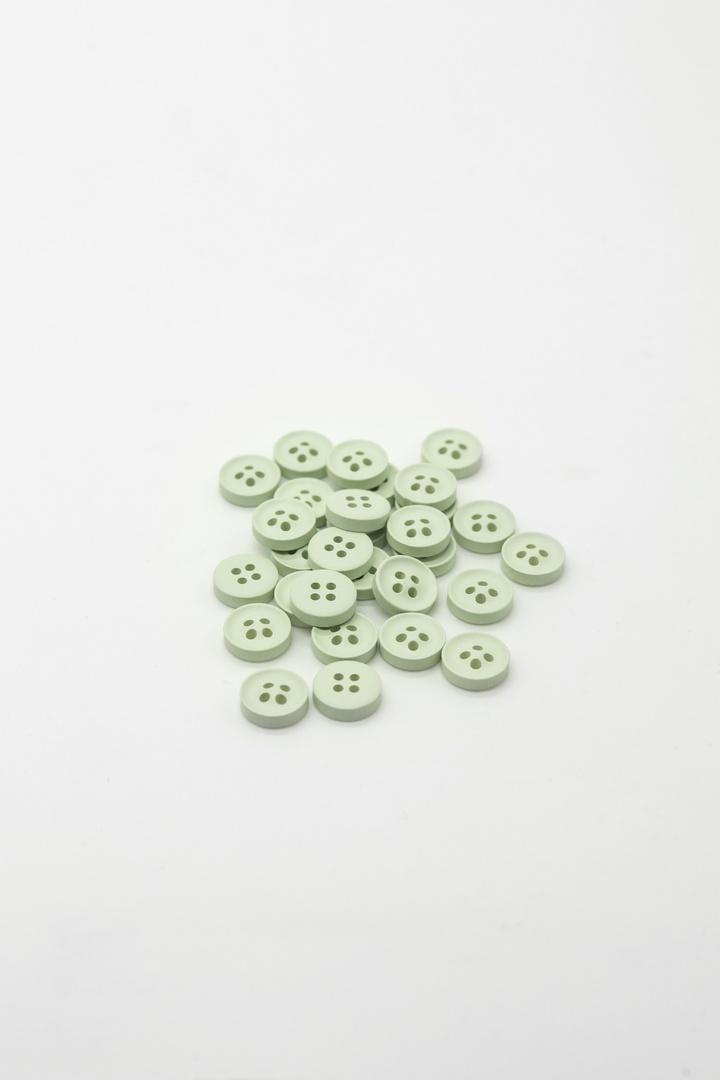Пуговицы, зеленый (d 1см)