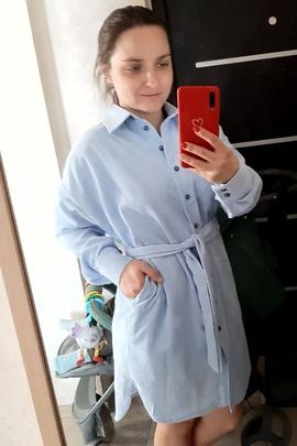 Платье-рубашка Адель.                                 cover of user feedbackПользователь 169366