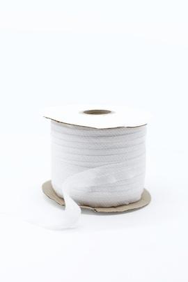 Лента клеевая нитепрошивная по косой, усиленная строчкой (белый)