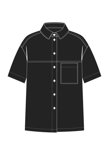 """Комплект """"Чёрный"""" (сорочечная)"""
