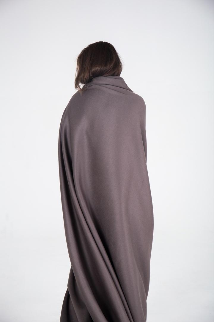 Пальтовая, серый хаки (шерсть + кашемир)