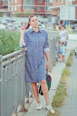 Платье-рубашка Адель.                                 cover of user feedbackИрина