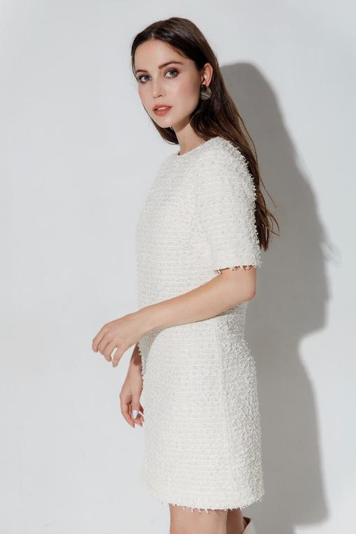 МК по пошиву платья А-образного силуэта из твида Сейлор
